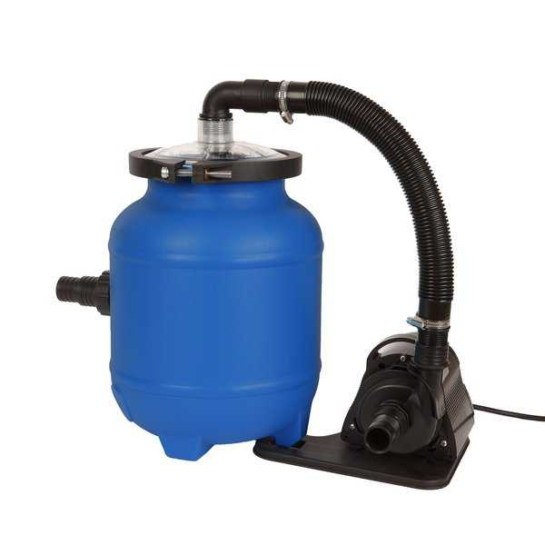 Flowxtreme Plus 16-in AG Pool System with Cotton Tails Media 1/10 HP Pump - Blue