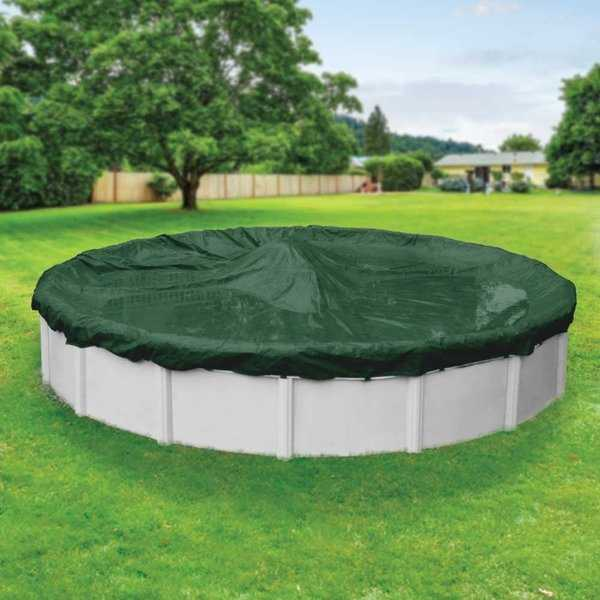 Pool Mate Heavy-Duty Grass Green Winter Cover for Round Above-Ground Swimming Pools