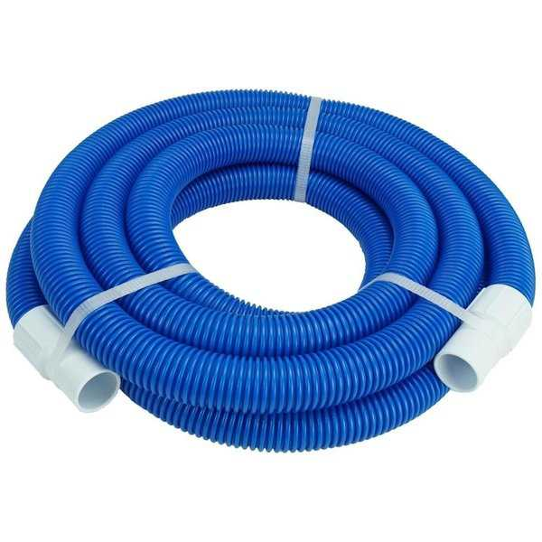 27' Blue Blow Molded PE Vacuum Hose With White Cuffs