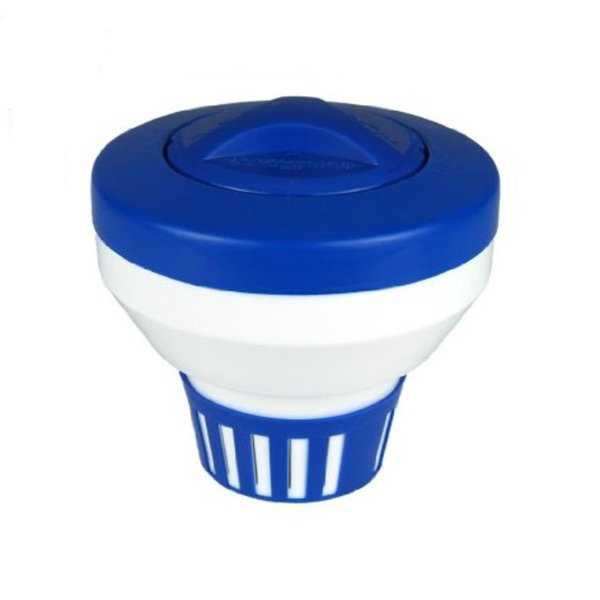 7.5' Classic Blue and White Floating Swimming Pool Chlorine Dispenser