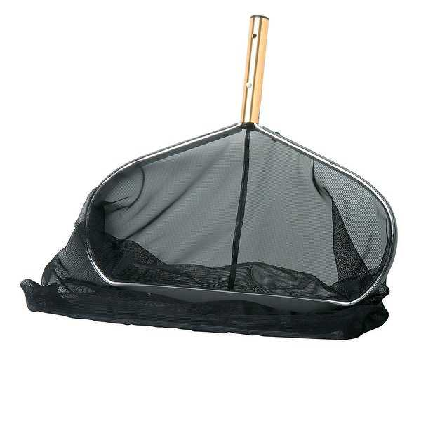 Ultra-Deep Professional Swimming Pool Leaf Rake Skimmer Head - Fits Most Poles - Black