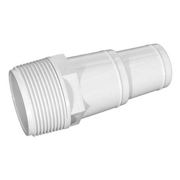 4' White Swimming Pool or Spa Threaded Hose Adapter