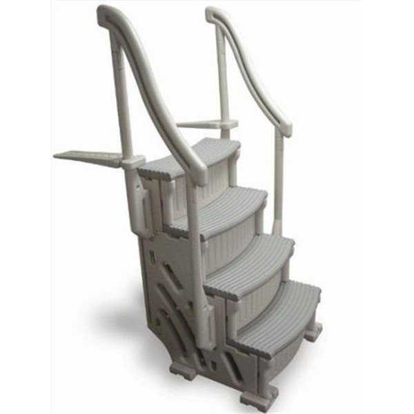 Confer Plastics 4-Step Base Stair Case Only Drop in With 2 Handrails
